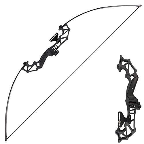 Huntingdoor アーチェリー用弓 リカーブボウ 狩猟弓 ロングボウ リカーブボウ 30lbs 40lbs が付属 矢台 矢ブラシ 取り外し可能 組立簡単 (30)