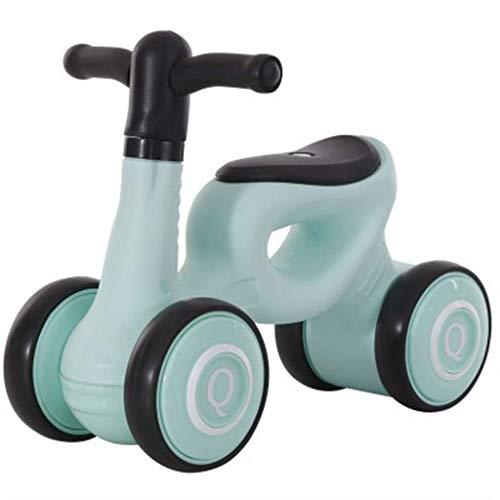 YGB Triciclo portátil Triciclo Triciclo Present Trike Baby Balance Bike, Bicicleta Ligera para niños Baby Walker1-3 años Sin Pedal Cuatro Ruedas Adecuado para niños y niñas, Rosa