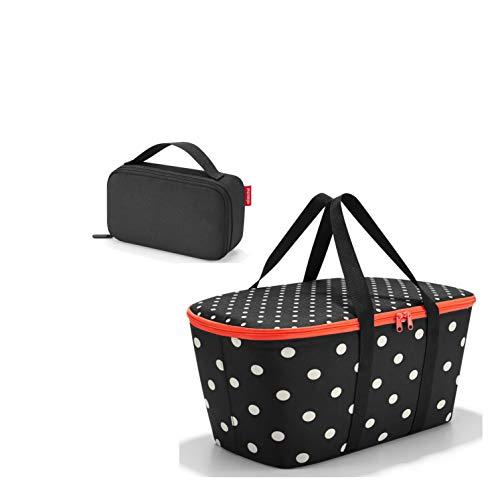 Einkaufsset bestehend aus reisenthel Coolerbag/Kühltasche und reisenthel thermocase/Isotasche (Mixed dots)