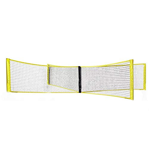IrahdBowen Vier Quadratisches Volleyballnetz Volleyball Und Badmintonnetz Tragbares 4WegeVolleyballnetz Balltrainingsnetz Für Gärten Strände Schwimmbäder Party proficient