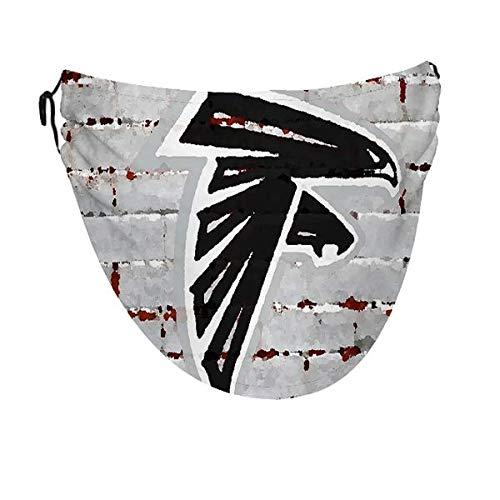 Wodann Atlanta Falcons (28) Funda para la boca para hombres y mujeres, ajustable, lavable, a prueba de polvo, a prueba de viento, transpirable, para adultos