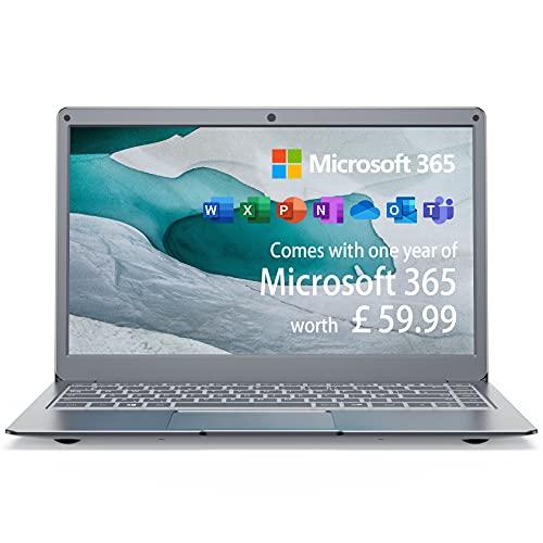 Jumper Laptop with Microsoft 365, 4GB RAM 64GB eMMC 13.3 Inch FHD Laptop (Windows 10, Inter...