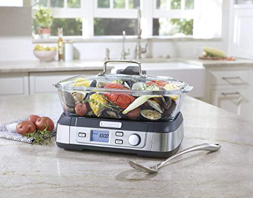 Cuisinart STM-1000 Digital Glass Steamer, One Size, Stainless Steel