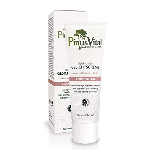 Pinus Vital Naturkosmetik | Reichhaltige Gesichtscreme | Bei trockener Haut | Entspannt & beruhigt | 50 ml