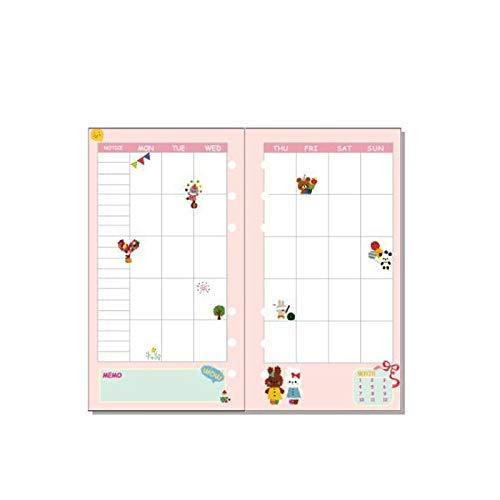 A6 páginas recargables, 6 agujeros, cuaderno de recarga de colores, organizador personal ejecutivo para escribir su plan diario/semanal/mensual (40 páginas de inserción, paquete de 2)