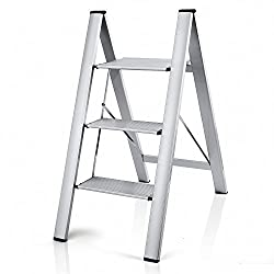 Delxo 2 in 1 3-Step Aluminum Ladder