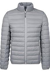 Urban Classics Herren Daunenjacke Basic Down Jacket, gefütterte Steppjacke für Herbst und Winter, praktisch verstaubar in mitgelieferter Tasche - darkgrey, Größe M