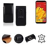 K-S-Trade® Holster Gürtel Tasche Für M-Horse Pure 3 Handy Hülle Leder Schwarz, 1x