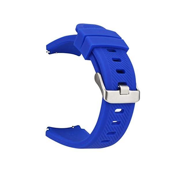 MroTech 22mm Correa Silicona Compatible para Samsung Gear S3 Frontier/Classic/Galaxy Watch 46mm Pulsera Repuesto para… 1