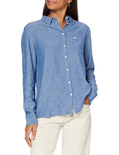 Lee Damen ONE Pocket Shirt Hemd, Blau (Washed Blue Lr), X-Small (Herstellergröße: XS)