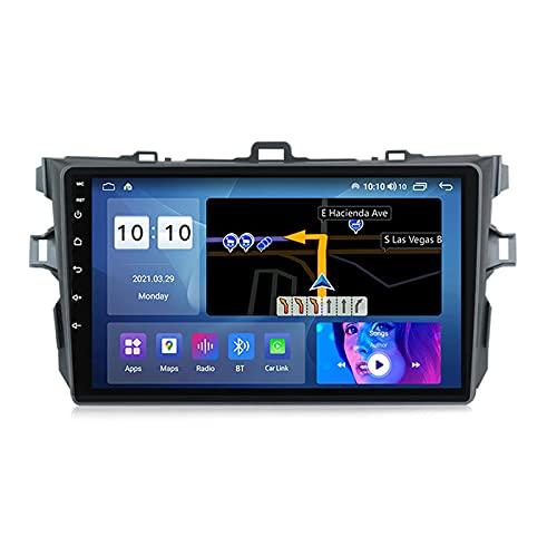 Android 10.0 Car Stereo 2 DIN Radio para T-oyota Corolla 2006-2013 Navegación GPS 9 '' Unidad Principal Reproductor Multimedia MP5 Receptor de Video con 4G / 5G WiFi Carplay