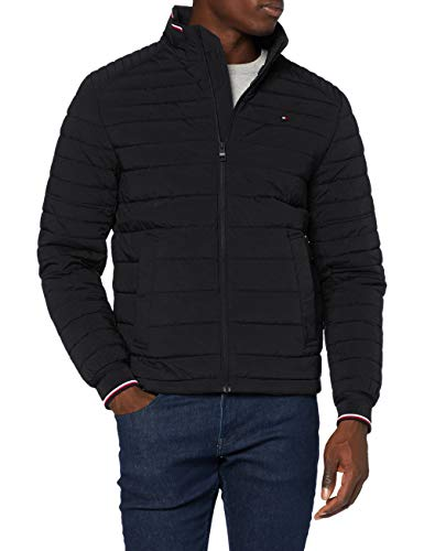 Tommy Hilfiger Herren Stretch Quilted Jacket Jacke, Black, XL