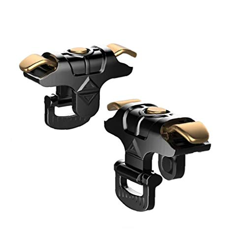 Odoukey Handy-Spiel-Trigger Telefon Joystick Grip Trigger-Pubg Joystick für Smartphone Black Gold 1Pair