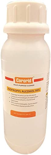 CORORID by DFPCL Pure ISO Propyl Alcohol (99%) 500 ML plain bottle