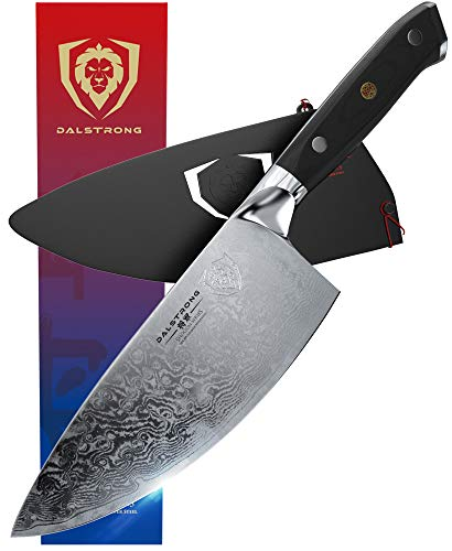 Dalstrong Rocking Herb Knife - Shogun Series - Japanese AUS-10V Super Steel (Vacuum Heat Treated)- 7' w/Sheath