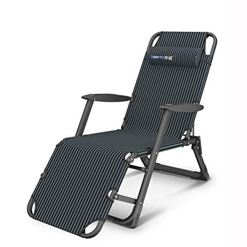 ACWZX Stainless Steel Indoor Folding Deckchair, Zero Gravity Folding Deck Chair with Padded Cushion, Adjustable Sunbathing Chair for Patio (D)
