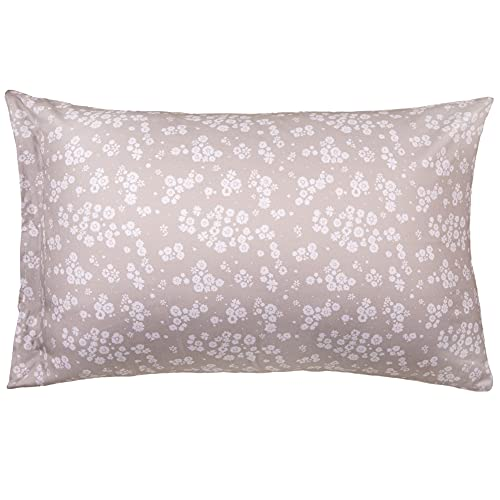 WeeSprout Toddler Pillow - Organic Cotton Shell & Pillowcase, Low Loft for Growing Kids, Soft & Supportive Polyfiber Filling, Machine Washable, 18 x 13 x 3, Floral Pattern