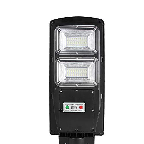 Farola Solar de LED para Alumbrado, 5500K 60W 120LED Lámpara de Pared del Sensor con Control Remoto Luz de Pared para Carreteras, Jardines, Patios, Estacionamientos