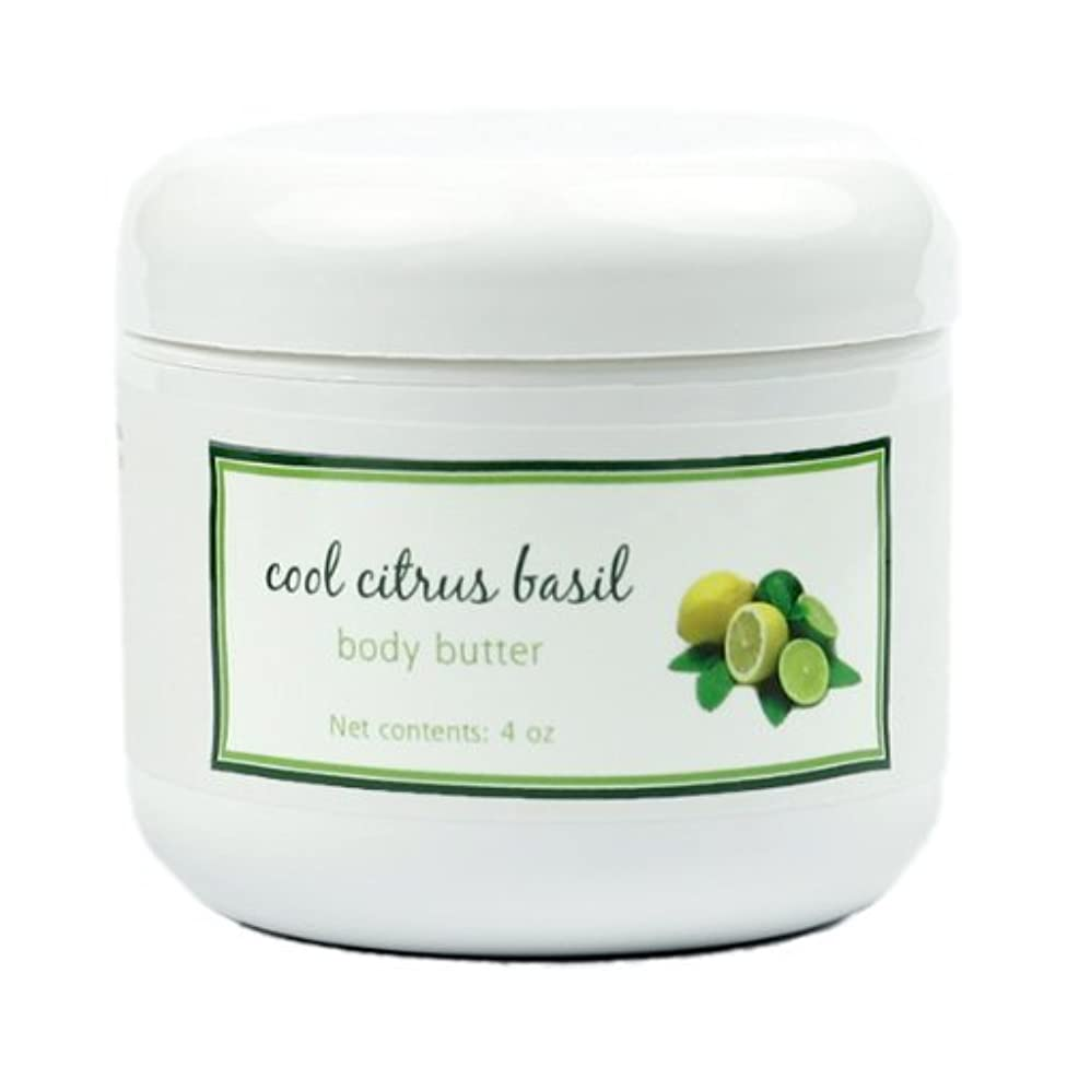 Shea Butter Cool Citrus Basil Body Butter by MoonDance Soaps - Handmade Moisturizers with Beeswax and Cocoa Butter