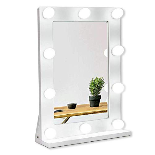 Waneway Espejo Estilo Hollywood para tocador, Espejo de vanidad Grande con Luces,...
