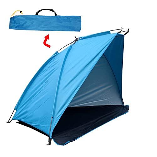 HUATAO HUAYU Strandzelt Leichte Tragbare Sonnenunterkunft Camping Zelt Sommer Outdoor Garten Sun Marking Canopy Fit Fischanschluss Wandern (Color : Blue)