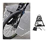 JNWEIYU Portaequipajes Trasero Bicicleta Aleación de Aluminio de la Bici Delantera de la Bicicleta portaequipajes Plataforma Carrier Panniers Soporte Accesorios