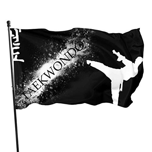 LZHANDA Garten Flaggen Flagge Fahne, Garden Flag Taekwondo Kung Fu Outdoor Yard Flag Wall Lawn Banner Home Flag Decoration 3' X 5'