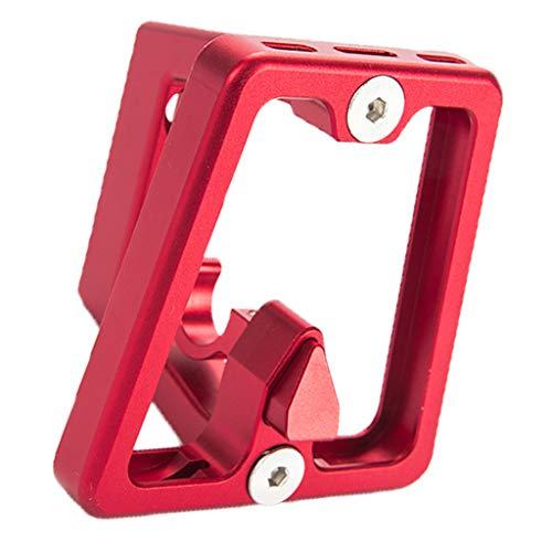 MagiDeal Portabotellas Plegable para Bicicletas con Soporte Delantero para Bicicletas Brompton - Rojo