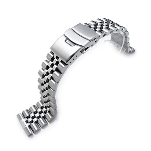 22mm Super-J Louis 316L Stainless Steel Watch Band, straight end universal version