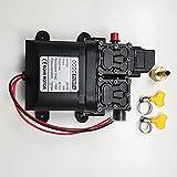 IGOSAIT 3208 12V 120W 8L / min de alto flujo de la bomba de agua de culata de diafragma doble con junta de cobre (Color : Yellow shell, Voltage : 12V)