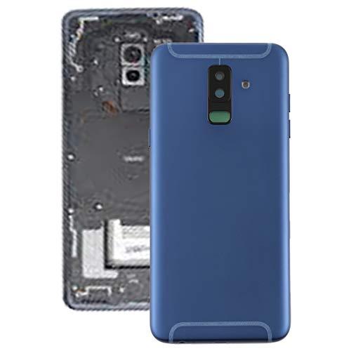 YICHAOYA batterij achterzijde-afdekking vervanging voor Samsung Galaxy A6 + (sterk en robuust) support afdekking met gezichtssleutel en cameralens voor Galaxy A6 (2018) / A605 (zwart), blauw