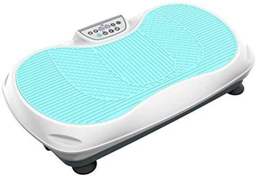 WEIZI Plataforma vibratoria Profesional para Todo el Cuerpo Placa vibratoria Crazy Fit para Todo el Cuerpo Máquina vibratoria con Control Remoto y Bandas de Resistencia