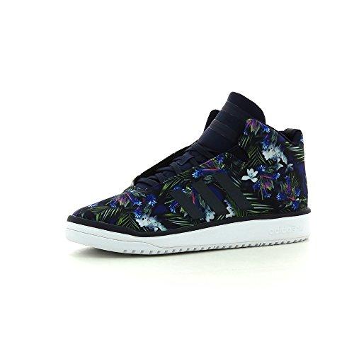 adidas Veritas Mid K – Scarpe da Bambino, Colore: Blu Navy/Bianco, Taglia 38