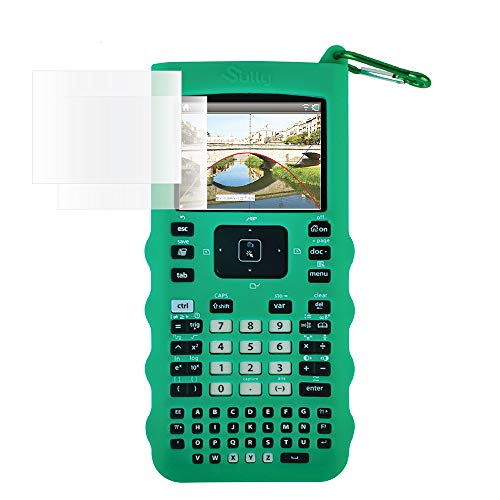 Sully Silicone Skin for Ti Nspire CX/CX CAS Handheld (Green) w/Screen Protector - Silicon Cover Case for Ti-Nspire CX Hand held Graphing Calculator - Protective & Anti-Scretch Skins & Screen Covers