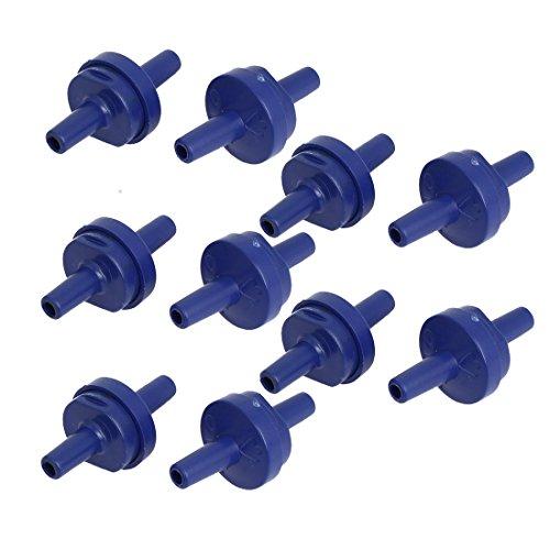 sourcingmap - Valvola di ritegno in plastica per Acquario, 10 Pezzi, Colore: Blu