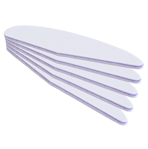 5er Pack - Profifeile Wing (Nagelfeile) weiss - lila Kern - Grit 100/180