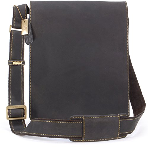 VISCONTI - Big Organiser Messenger Bag - Genuine Leather -...