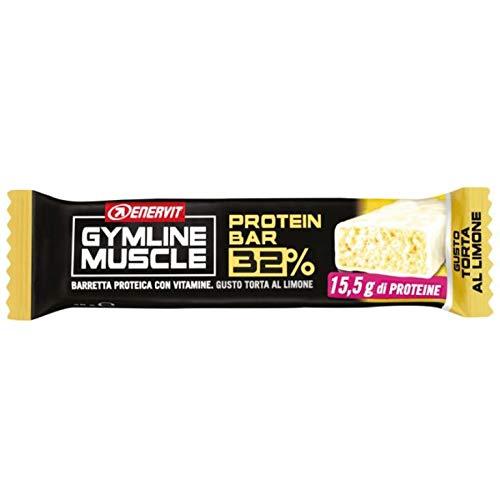 30 BARRETTE ENERVIT GYMLINE MUSCLE PROTEIN BAR 32% TORTA AL LIMONE