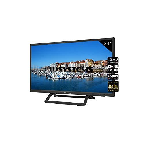 "TD Systems K24DLX10H - Televisor 24"", 1X HDMI, VGA, USB, 800 PCI Hz, Grabador Reproductor, DVB-T2/C/S2, Modo Hotel, Negro"
