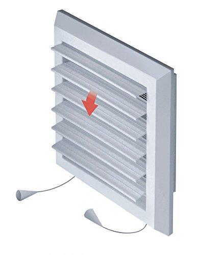 Ventilatierooster afsluitrooster insectenbescherming 14x14 cm jaloezie ventilator T37
