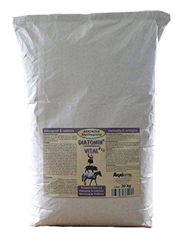 Agrinova DIATOMIN Vital 20 kg - amorphe Qualitäts-Kieselgur zur Verbesserung des Stallklimas und Wohlbefinden der Haus-und Nutztiere.Vielseitig einsetzbar.