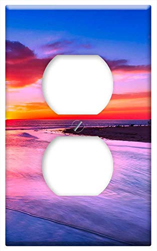 Switch Plate Outlet Cover - California Sunset Evening Sky Clouds Sea Ocean 1