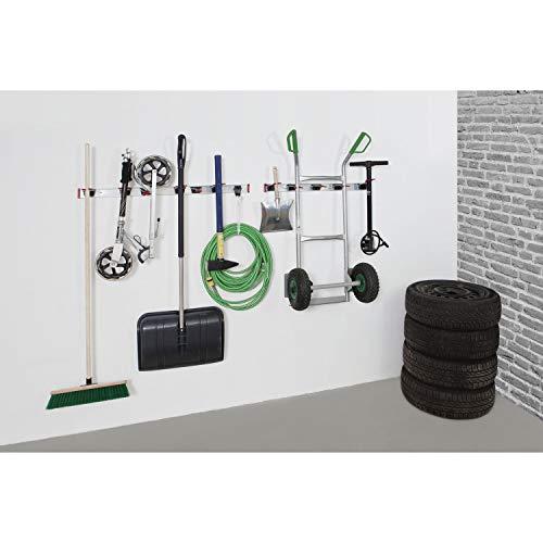 Bruns Gerätehalter Schiene 100 cm + 10 Halter für Garten Geräte Werkstatt Besen