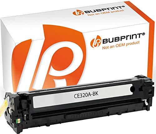 Bubprint Recycelt Toner kompatibel für HP CE320A 128A für Color LaserJet Pro CM1415FN CM1415FNW CP1525 CP1525N CP1525NW 2200 Seiten Schwarz
