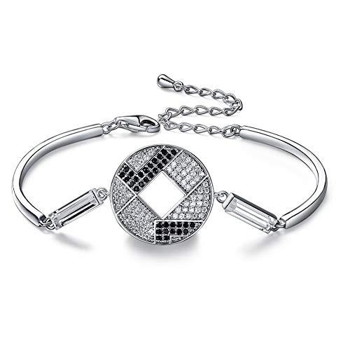 NQDTPBOR Pulsera de tenis para mujer, con piedra de nacimiento de diamante, clásica, ajustable, para joyas, regalo de mariposa, regalo para mamá, novia/damas amigas/niñas/hija