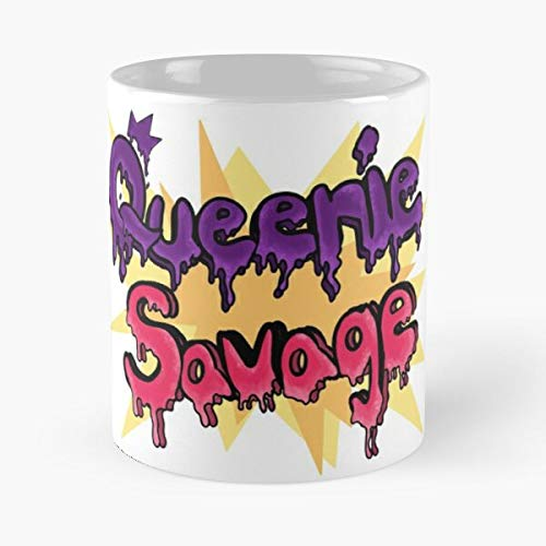 Desconocido Ooze Queen Pow Retro Pop Savage Queenie Slime Taza de café con Leche 11 oz