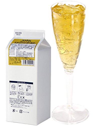 ハーダース モナジュエル シャンパンゴールド L-AC 720ml×12本入 ゼリー飲料 ゼリー飲料まとめ買い 業務用 ゼリー宝石 キラキラ インスタ映え 洋酒 ゼリー マスカット 果汁 シャンパン 黄色