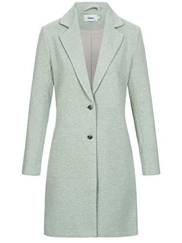 Only Onlcarrie Mel Coat Otw Abrigo, Lichen/Detail:MELANGE, 44 (Talla del fabricante: 42) para Mujer