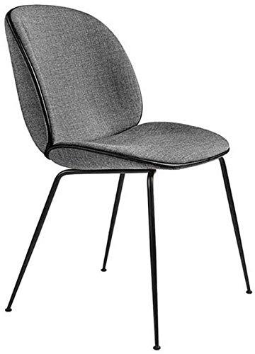 FHW Moderne Stoel, Metal Beetle Kruk, Receptie/Sales Department/Office/Meeting Room stoel (Color : Gray, Size : 48x50x95CM)