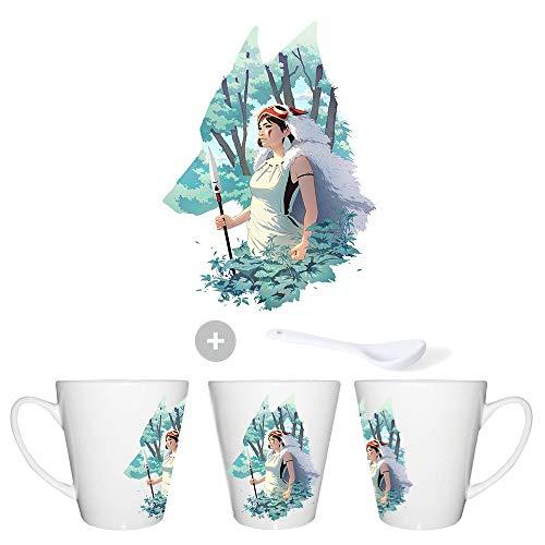 MERCHANDMANIA Taza CONICA LA Princesa Mononoke Conic mug